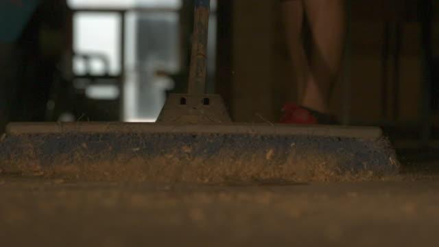 broom - phantom miro - sawdust stock videos and b-roll footage