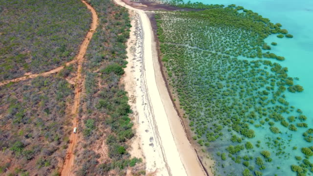 broome, coastline aerial view, western australia - coastline stock videos & royalty-free footage