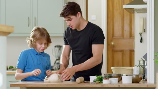brothers cooking - home economics class stock videos & royalty-free footage