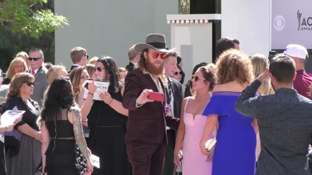 brothers osborne arriving to the 52nd academy of country music awards in celebrity sightings in las vegas - academy of country music awards stock videos & royalty-free footage