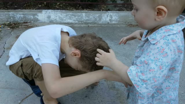 brothers playing and fighting together - sibling stock videos and b-roll footage