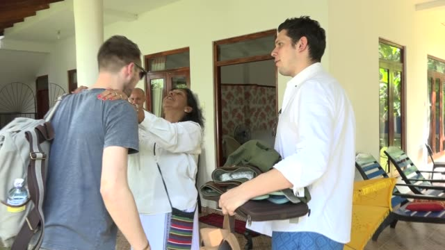 brothers return to orphanage set up in wake of tsunami sri rob forkan and paul forkan along - orphanage stock videos and b-roll footage