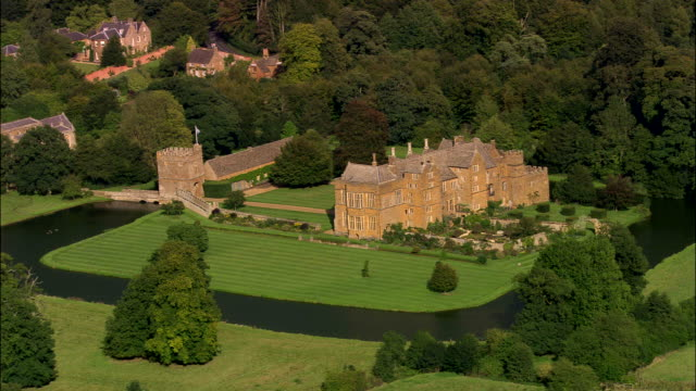 broughton castle - oxfordshire stock videos & royalty-free footage