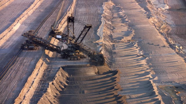 brown coal excavator - coal mine stock videos and b-roll footage