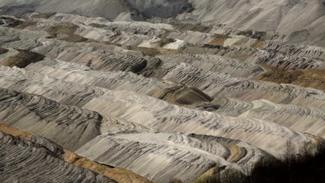 brown coal mining in hambach, north rhine-westphalia, germany - kohlengrube stock-videos und b-roll-filmmaterial