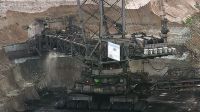 time lapse: brown coal mining - open cast mine stock videos & royalty-free footage