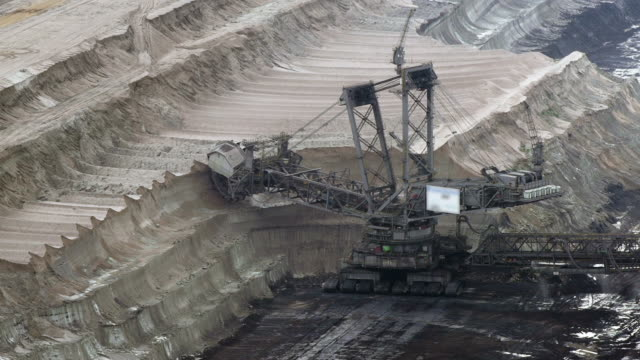 brown coal mining - surface mine stock videos and b-roll footage