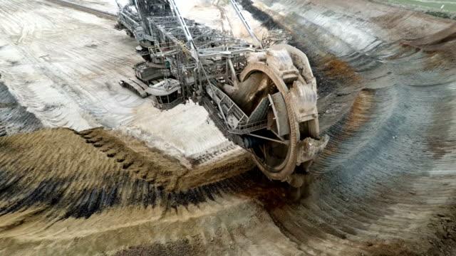 brown coal mining - bucket stock videos & royalty-free footage