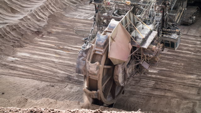 brown coal mining. - surface mine stock videos and b-roll footage