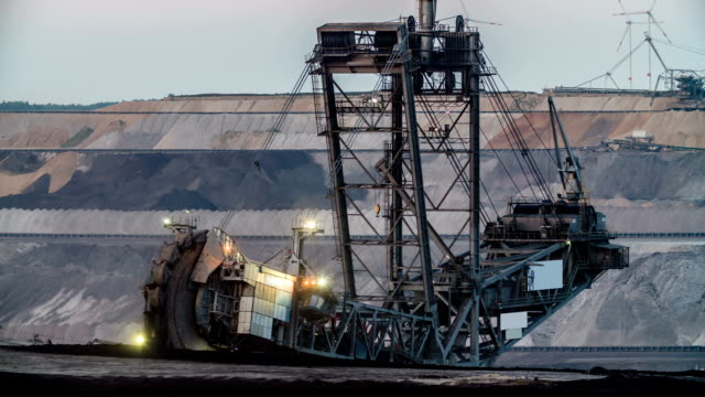 brown coal mining - open cast mine stock videos & royalty-free footage