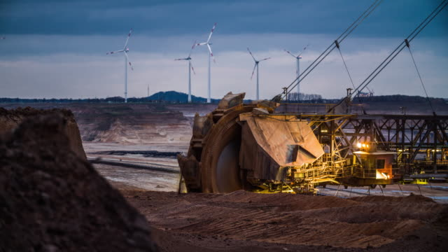 brown coal mining  - kohlengrube stock-videos und b-roll-filmmaterial