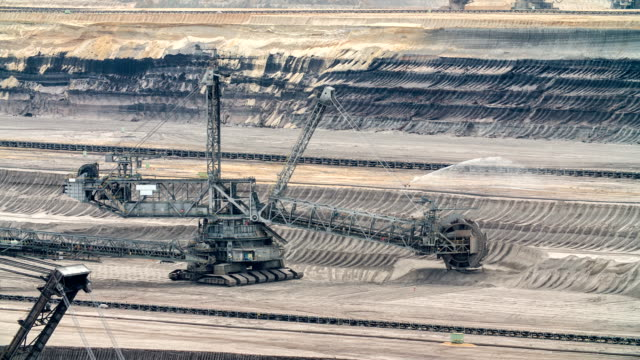 brown coal open cast mine - surface mine stock videos and b-roll footage