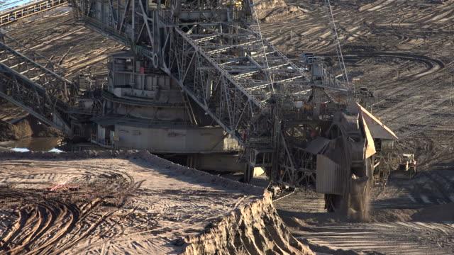 brown coal open-pit mining garzweiler near grevenbroich, north rhine-westphalia, germany - open cast mine stock videos & royalty-free footage