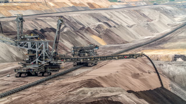 brown coal surface mine - surface mine stock videos and b-roll footage