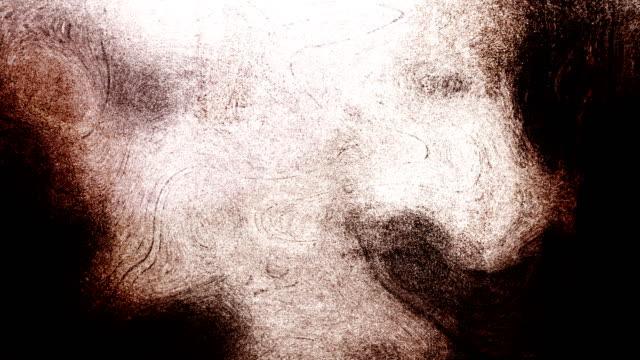 brown high contrasted blizzard grungy and dirty, animated, distressed and smudged stormy sky, clouds 4k video background with swirls and frame by frame motion feel with van gogh style - distressed video stock e b–roll