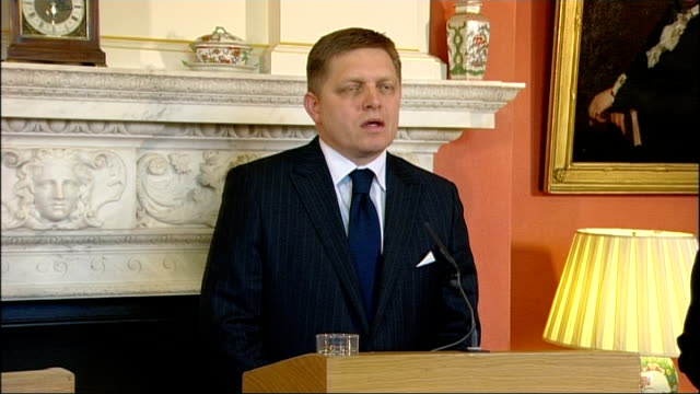 brown meets with slovakian prime minister slovakia is a very important member of the european union it has just joined the euro in the last few... - slovakia stock videos & royalty-free footage