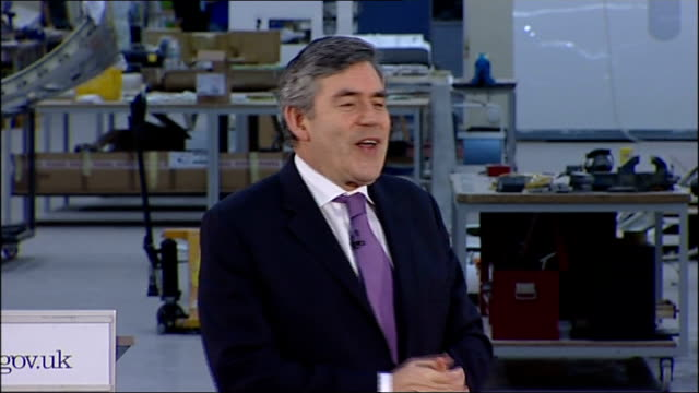 brown speech gordon brown mp speech sot what a pleasure it is to be here / have come with mervyn davies new trade and investment minister / i want to... - industrial revolution stock videos & royalty-free footage