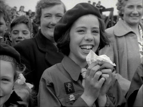brownies and cub scouts eat ice creams 1953 - cub scouts stock videos and b-roll footage