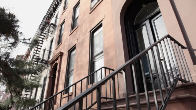 ms la brownstone block exterior / brooklyn, new york city, usa - front stoop stock videos and b-roll footage