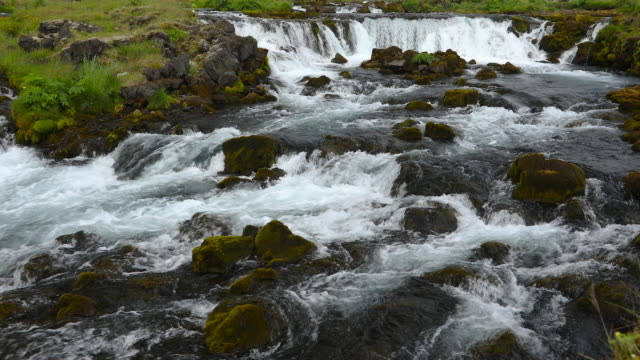 stockvideo's en b-roll-footage met bruarfoss waterfall, iceland - verwonderingsdrang