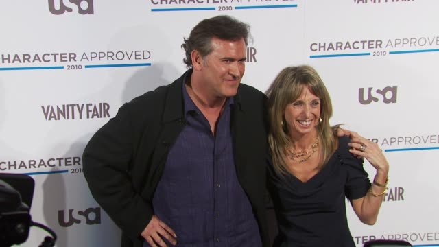 Bruce Campbell and Bonnie Hammer at the 2nd Annual Character Approved Awards Cocktail Reception at New York NY