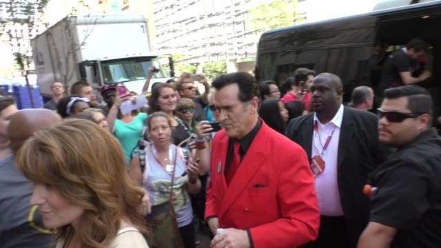 bruce campbell at comic-con celebrity sightings on july 10, 2015 in san diego, california. - bruce campbell stock videos & royalty-free footage
