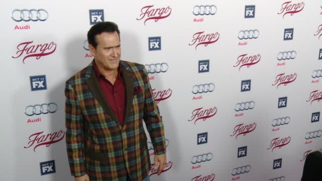 """bruce campbell at fx's """"fargo"""" los angeles premiere at arclight cinemas on october 07, 2015 in hollywood, california. - bruce campbell stock videos & royalty-free footage"""
