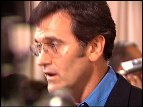 bruce campbell at the 'serving sara' premiere at academy theater in beverly hills, california on august 20, 2002. - bruce campbell stock videos & royalty-free footage