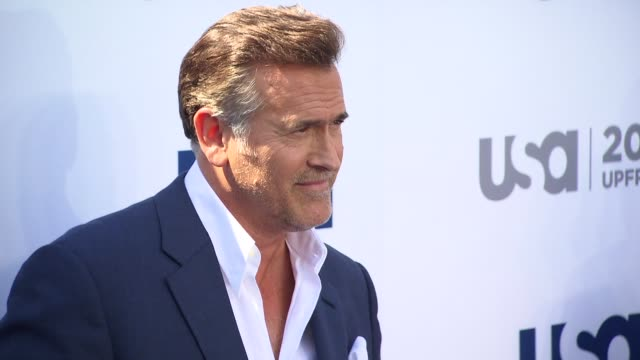 bruce campbell at usa network 2013 upfront event at pier 36 on may 16, 2013 in new york, new york - bruce campbell stock videos & royalty-free footage