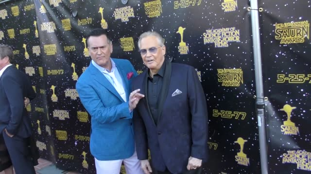 bruce campbell & lee majors at the 43rd annual saturn awards on june 28, 2017 in burbank, california. - bruce campbell stock videos & royalty-free footage
