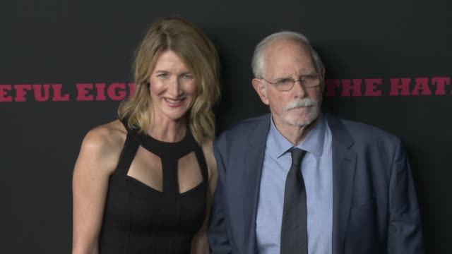 """bruce dern and laura dern at """"the hateful eight"""" world premiere at arclight cinemas on december 07, 2015 in hollywood, california. - arclight cinemas hollywood stock-videos und b-roll-filmmaterial"""