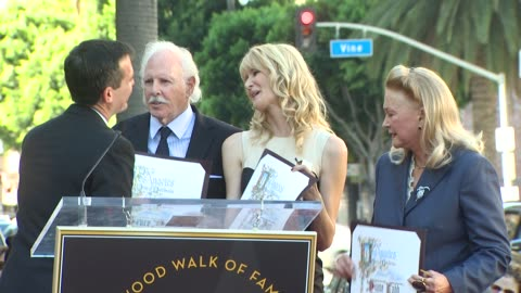 bruce dern , laura dern and diane ladd at the bruce dern, laura dern and diane ladd honored at the hollywood walk of fame at hollywood ca. - laura dern stock videos & royalty-free footage