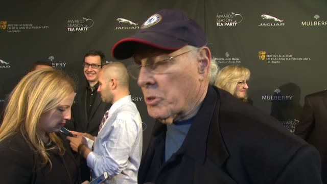 interview bruce dern on being a part of the afternoon what bafta's support means to him at bafta la 2014 awards season tea party at four seasons... - bafta la tea party stock videos and b-roll footage