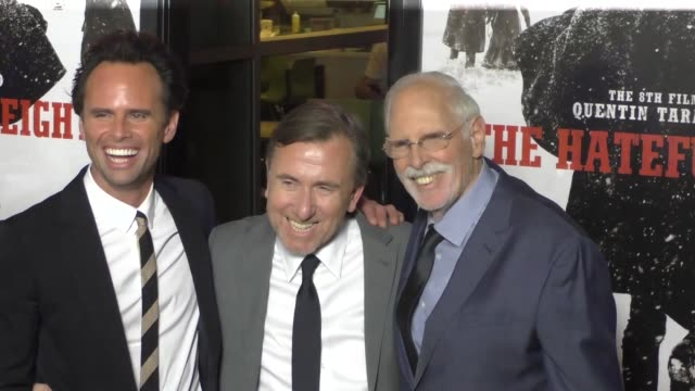 bruce dern walton goggins tim roth at the hateful eight premiere at arclight theatre in hollywood at celebrity sightings in los angeles on december... - tim roth stock videos and b-roll footage