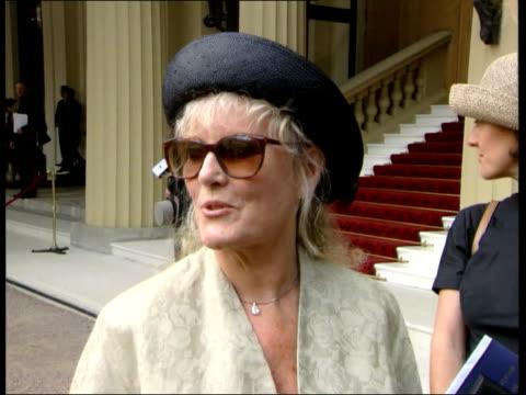 Investiture POOL Buckingham Palace Petula Clark along CS CBE medal Petula Clark makes you realise it's kind of nice to be British Forsyth interviewed...