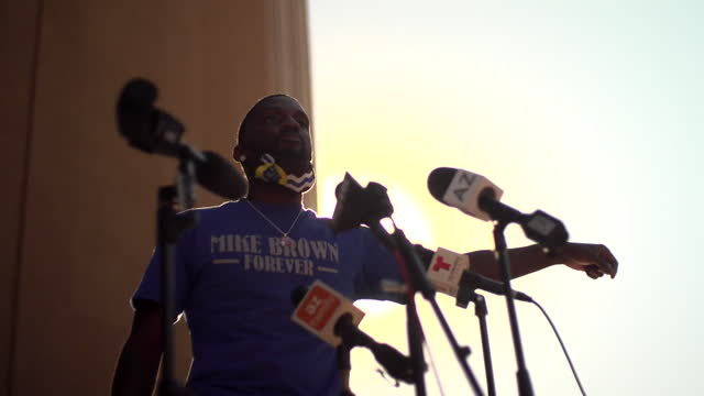 bruce franks jnr, a black civil rights activist, protesting outside the courthouse in phoenix, arizona, over the jailing of a civil rights protester - arizona stock videos & royalty-free footage