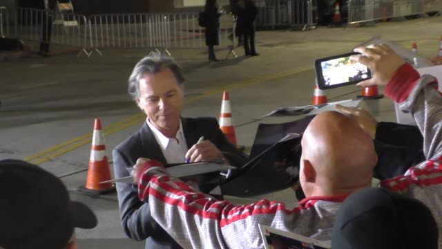 bruce greenwood arriving to american crime story the people v oj simpson at village theatre in westwood celebrity sightings on january 27 2016 in los... - westwood village stock-videos und b-roll-filmmaterial