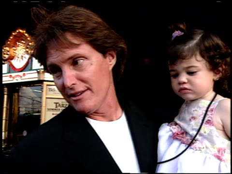 bruce jenner at the 'tarzan' premiere at the el capitan theatre in hollywood california on june 12 1999 - el capitan theatre stock videos & royalty-free footage