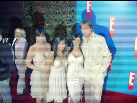 bruce jenner wife kris and daughters kourtney and kimberly at the e entertainment television's summer splash event at the hollywood roosevelt hotel... - 2005 stock videos and b-roll footage