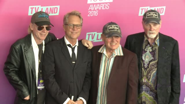 Bruce Johnston Mike Love and the Beach Boys at 2016 TV Land Icon Awards at Barker Hangar on April 10 2016 in Santa Monica California
