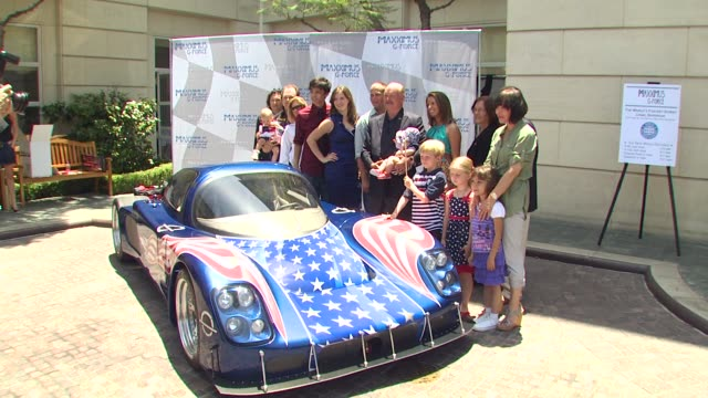 bruce mcmahan and family at the new and improved maxximus g force the world's fastest car unveiled at beverly hills ca - mahan stock videos & royalty-free footage