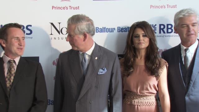bruce parry, hrh prince charles prince of wales, cheryl cole, philip schofield at the the prince's trust celebrate success awards arrivals at london... - phillip schofield stock videos & royalty-free footage