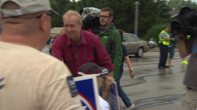 bruce rauner greets supporters at a labor day parade in schaumburg ill - bruce stock videos & royalty-free footage