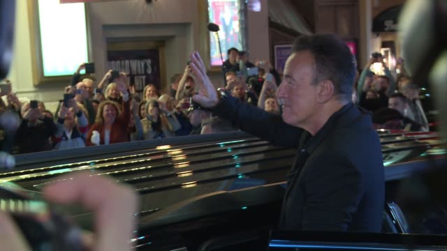 bruce springsteen at bruce springsteen takes a bow on his broadway opening night at walter kerr theatre on october 12 2017 in new york city - broadway manhattan stock videos & royalty-free footage