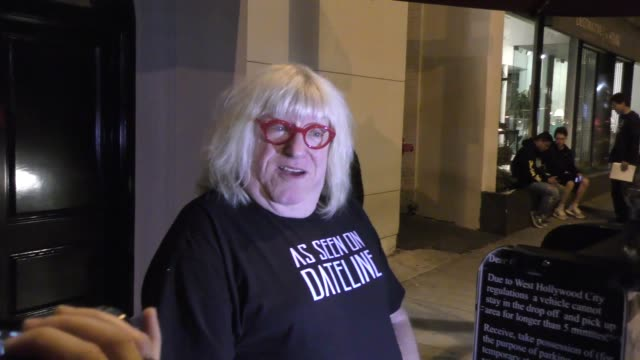 interview bruce vilanch comments on roseanne barr spinoff without roseanne outside craig's in west hollywood in celebrity sightings in los angeles - roseanne barr stock videos & royalty-free footage