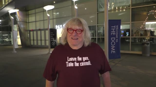 interview bruce vilanch shares his thoughts on trump outside a screening of seven wonders at arclight cinerama dome in hollywood in celebrity... - cinerama dome hollywood stock videos & royalty-free footage