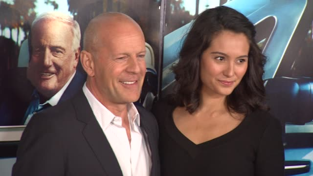 bruce willis and emma heming at the 'his way' premiere at los angeles ca - bruce willis stock-videos und b-roll-filmmaterial