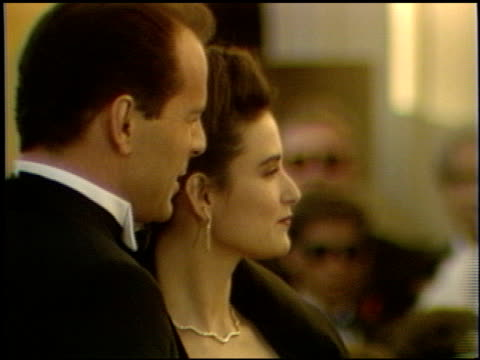 bruce willis at the 1989 academy awards at the shrine auditorium in los angeles california on march 29 1989 - bruce willis stock videos and b-roll footage