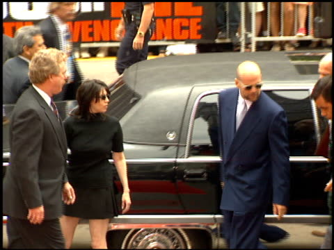 bruce willis at the dedication of bruce willis' footprints at grauman's chinese theatre in hollywood california on may 18 1995 - bruce willis stock videos and b-roll footage