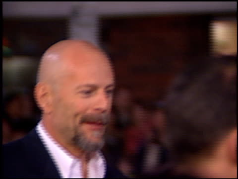 bruce willis at the 'hart's war' premiere at mann in westwood california on february 15 2002 - bruce willis stock videos and b-roll footage